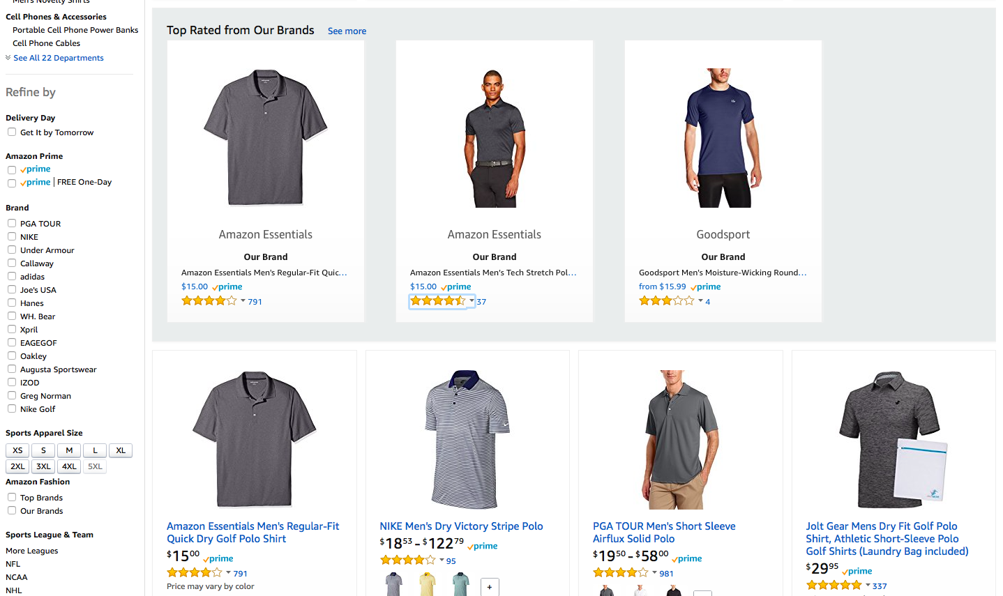 Page navigation golf shirt manufacturers